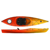 Perception Tribute 10.0 Recreational Kayak 2013, Red-Yellow, medium