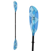 Werner Paddles Camano 2PC Kayak Paddle, Swellz Blue, medium