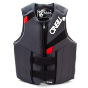 O'Neill Neoprene Teen Life Vest, Coal-Black-Red, medium
