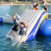 Aquaglide Plunge Slide Water Trampoline Attachment 2013, , medium