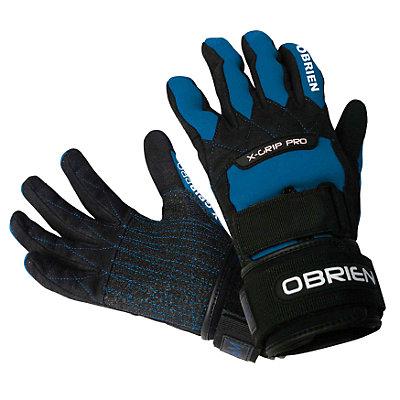 O'Brien X-Grip Pro Water Ski Gloves, Black-Blue, viewer