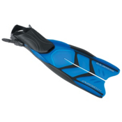 US Divers Hydrosplit Snorkel Fins, Translucent Blue, medium