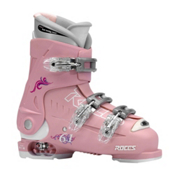 Roces Idea Adjustable Girls Ski Boots, Deep Pink, medium