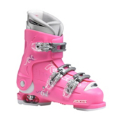 Roces Idea Adjustable Girls Ski Boots 2014, Pink, medium