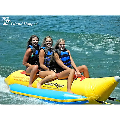 Island Hopper Recreational Banana Boat 3 Passenger Towable Tube, , viewer