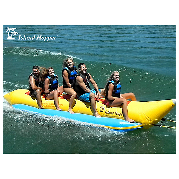 Island Hopper Recreational Banana Boat 5 Passenger Towable Tube 2017, , 600