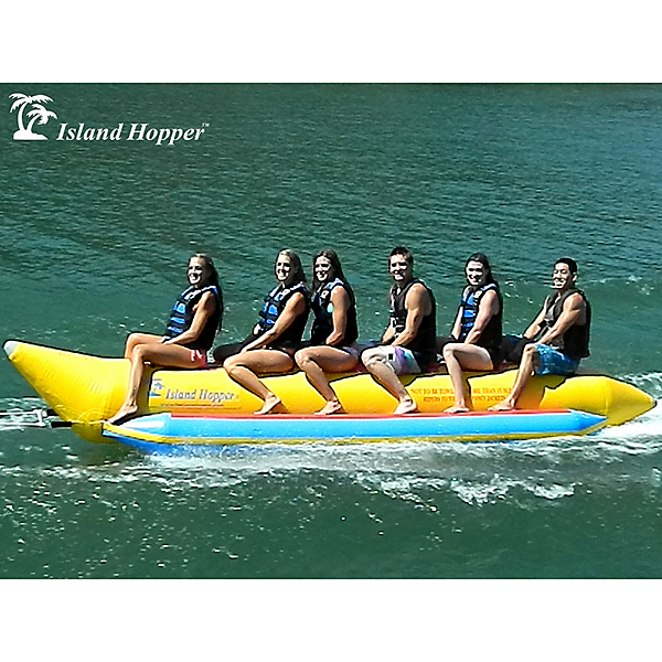 Island Hopper Commercial Banana Boat 6 Passenger Towable Tube 2017, , 600