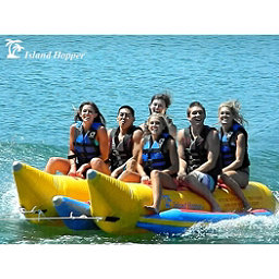 Island Hopper Commercial Banana Boat 6 Passenger Side-By-Side Towable Tube 2017, , 256