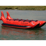 Island Hopper The Red Shark Banana Boat 10 Passenger Side-By-Side Towable Tube, , medium