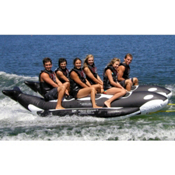 Island Hopper Whale Ride Commercial Banana Boat 6 Passenger Side-By-Side Towable Tube, , medium