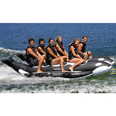 Island Hopper Whale Ride Commercial Banana Boat 6 Passenger Side-By-Side Towable Tube, , viewer