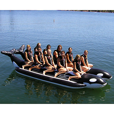 Island Hopper Whale Ride Commercial Banana Boat 10 Passenger Side-By-Side Towable Tube, , viewer