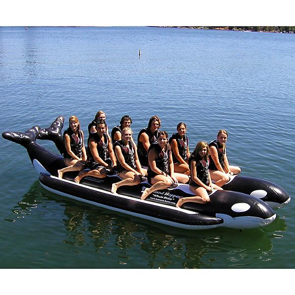 Island Hopper Whale Ride Commercial Banana Boat 10 Passenger Side-By-Side Towable Tube 2017, , 600