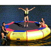 Island Hopper Bounce and Splash 13 Foot Bounce Platform, Yellow, medium