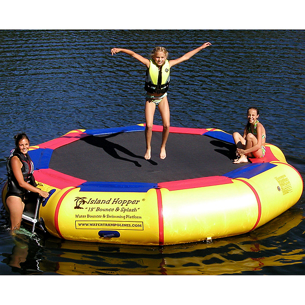 Island Hopper Bounce and Splash 13 Foot Bounce Platform, Yellow, 600
