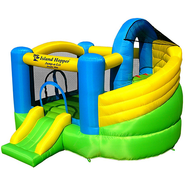 Island Hopper Jump-A-Lot Double Slide Bounce House, , 600