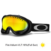 Oakley A Frame Goggles 2014, Jet Black-Fire Iridium, medium