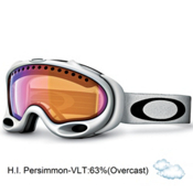 Oakley A Frame Goggles 2013, Matte White-High Intensity Per, medium