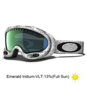 Oakley A Frame Goggles 2013, White Factory-Emerald Iridium, medium