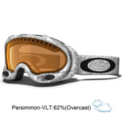 Oakley A Frame Goggles 2014, White Factory Text-Persimmon, medium