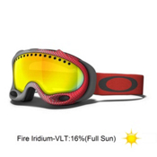 Oakley A Frame Goggles 2014, Half Tone Red Grey-Fire Iridium, medium