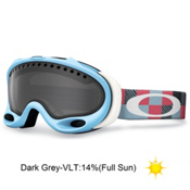 Oakley A Frame Goggles 2014, Crystal Blue Digi Camo-Dark Grey, medium
