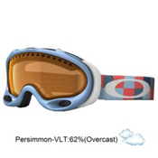 Oakley A Frame Goggles 2013, Crystal Blue Digi Camo-Persimmon, medium