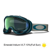 Oakley A Frame Goggles 2013, Forest-Emerald Iridium, medium