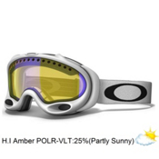 Oakley A Frame Polarized Goggles 2014, Matte White-H.I. Amber Polarized, medium