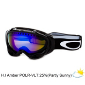 Oakley A Frame Polarized Goggles 2014, Jet Black-H.I. Amber Polarized, medium