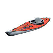 Advanced Elements AdvancedFrame Inflatable Kayak, Red-Grey, medium