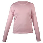 Hot Chillys Peachskins Crewneck Girls Long Underwear Top, Pink, medium