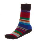 SmartWool Saturnsphere Womens Socks, Black Multi Stripe, medium