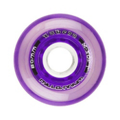 Labeda Gripper Millennium Inline Hockey Skate Wheels - 4 Pack, Clear-Purple, medium