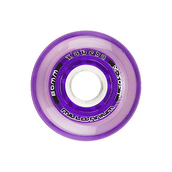 Labeda Gripper Millennium Inline Hockey Skate Wheels - 4 Pack, Clear-Purple, 600