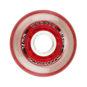 Labeda Gripper Millennium Inline Hockey Skate Wheels - 4 Pack, Clear-Red, medium