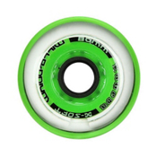 Labeda Gripper Millennium Inline Hockey Skate Wheels - 4 Pack, Clear-Green, medium