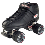 Riedell R3 Boys Speed Roller Skates, Black, medium