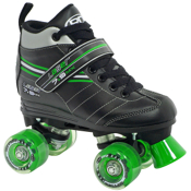 Roller Derby Laser 7.9 MX Boys Speed Roller Skates, Black-Green, medium
