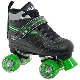 Roller Derby Laser 7.9 MX Boys Speed Roller Skates, Black-Green, 256