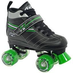 Roller Derby Laser 7.9 MX Boys Speed Roller Skates, Black-Green, 256