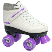 Roller Derby Venom Girls Speed Roller Skates 2013, White-Lavender, medium