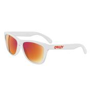 Oakley Frogskins Sunglasses, Polished White-Ruby Iridium, medium