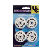 UnderCover Grind Rocks Aggressive Skate Wheels - 4 Pack, White, medium