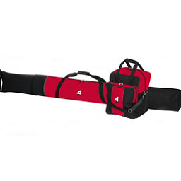 Athalon Single Combo Boot and Ski Bag, Black And Red, 256