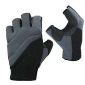 Stohlquist Contact Fingerless Paddling Gloves, Black-Charcoal, medium