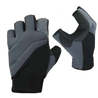 Stohlquist Contact Fingerless Paddling Gloves 2016, Black-Charcoal, viewer