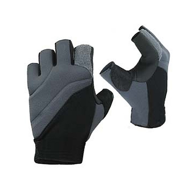 Stohlquist Contact Fingerless Paddling Gloves 2017, Black-Charcoal, 600