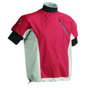 Immersion Research Zephyr Short Sleeve Paddling Jacket, Brick Red-Grey, medium