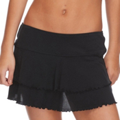 Body Glove Lambada Skirt Bathing Suit Cover Up, Black, medium